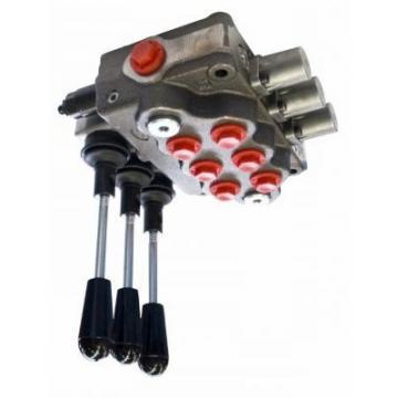 """Distributore oleodinamico elettrico 3/8"""" doppio effetto a 3 leve - 12 V"""